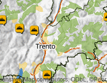 Map: Mountains in Trentino
