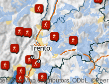 Map: Hiking in autumn