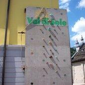 Eine Kletterwand