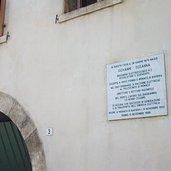 Gedenktafel am Geburtshaus