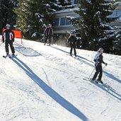 Skifahren auf den Pisten