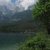 Der See ist etwa einen Kilometer lang