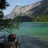 Der See entstand durch einen Erdrutsch