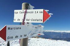 Escursione invernale Redebus Dosso di Costalta