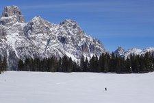 Escursione invernale Lago di Calaita Winterwanderung
