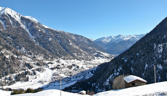 Val di Sole, Pejo, Winter landscape