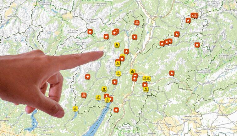 Trentino Alto Adige Cartina Fisica E Politica.Cartina Del Trentino Mappa Della Provincia Di Trento